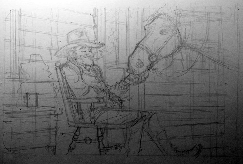 Cowboy Skizzen – Bernd Kissel